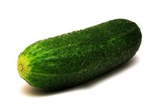 Free Foto Of Green Cucumber On White Background Stock Photo - 20281360