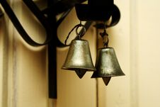 Free Zoomed Foto Of Hanging Metallic Colored Bells Stock Photography - 20281412