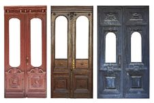 Free Set Of Aged Doors Royalty Free Stock Image - 20281506