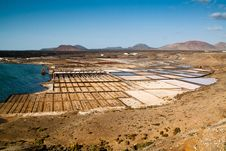 Free Lanzarote Salt Mine Royalty Free Stock Photo - 20281605