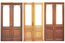 Free Set Of Wooden Doors Royalty Free Stock Photos - 20281658