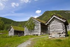 Ancient Wooden Huts, Norway Stock Photos
