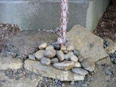 Free Copper Rain Chain Stock Photography - 20282142