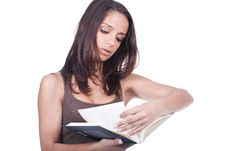 Free Woman Reading Book Stock Photos - 20282233