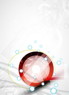 Free Abstract Red Round Shape. Vector Technology Royalty Free Stock Photos - 20282838