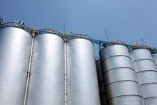 Steel Silo Royalty Free Stock Photography