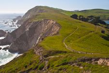 Free Winding Path On The Ocean Coast Royalty Free Stock Photography - 20283237