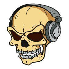 Free Skull With Headphones Stock Photo - 20283580