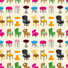 Free Chair Furniture Seamless Pattern Stock Photos - 20284953