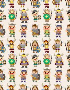 Free Cartoon Vikings Pirate Seamless Pattern Stock Photos - 20284973