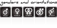 Free Genders And Orientations Royalty Free Stock Photography - 20285237