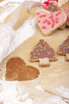 Free Christmas Cookies Royalty Free Stock Photography - 20285677