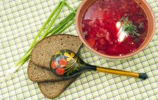 Free Bowl Of The  Borsch Royalty Free Stock Image - 20285876