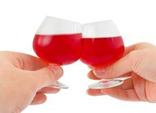 Free Hands And Wineglasses Royalty Free Stock Image - 20286286