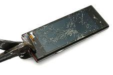 Damaged Smart Phone Stock Image