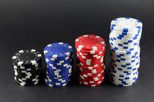 Free Casino Gambling Chips Royalty Free Stock Photo - 20286895