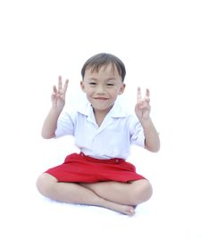 Free Cute Young Asian Boy Royalty Free Stock Photo - 20286905