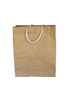Free Brown Crumpled Paper Bag Stock Image - 20287021