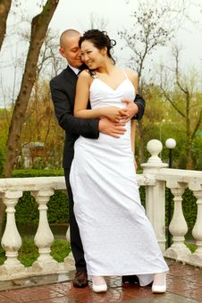 Free Bride And Groom In A Park Stock Image - 20287401