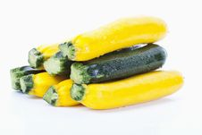 Free Green And Yellow Zucchinis Royalty Free Stock Photo - 20288725
