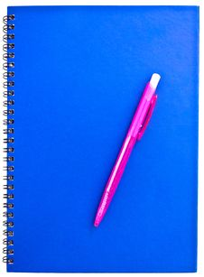 Free Pink Pen On The Notebook Stock Photo - 20289180