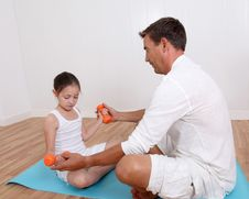 Free Fitness Coach And Little Girl Stock Photos - 20289913