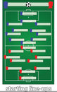 Free Soccer Starting Line-ups Royalty Free Stock Photography - 20290257