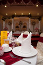 Free Dining Table And Wedding Reception Stage Royalty Free Stock Image - 20291136