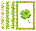 Free Frame With Clover & Ribbon Royalty Free Stock Photos - 20291668