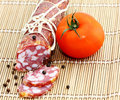 Free Salami With Tomato Stock Photography - 20292552