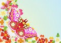 Free Flowers And Abstract Butterfly Stock Photos - 20297373