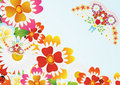 Free Abstract Butterfly And Flowers Royalty Free Stock Images - 20297399