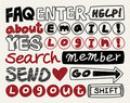 Free Web Text Element Collection ,icon Set Stock Photography - 20298512