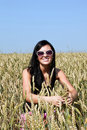 Free Happy Girl In The  Wheat Field Stock Photo - 20298520