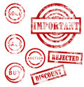 Free Red Stamps Collection Royalty Free Stock Photos - 20299308