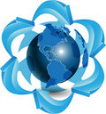 Free Blue Globe Stock Photography - 20299582