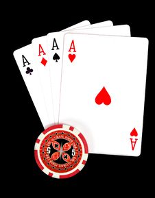 Free Cards And Ultimate Poker Chips Stock Photo - 20290430