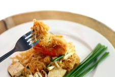 Close-up Pad Thai Royalty Free Stock Photo