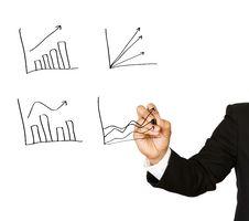 Free Businessman Hand Write Graph. Stock Photo - 20291350