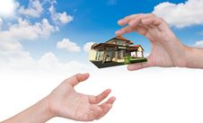 Free The House In Human Hand. Stock Photography - 20291712