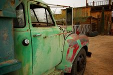 Rusty Old Truck With Patches Of Paint Royalty Free Stock Photography