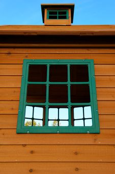 Free Wooden Play House With Green Windows Stock Photography - 20291922