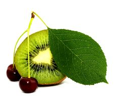Free Kiwi And Cherry Stock Image - 20292601