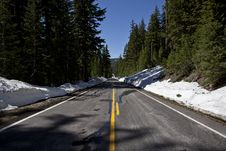 Free Forbidden Road In Crater Lake Stock Image - 20292751