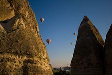 Hot Air Balloons In Cappadocia Stock Images