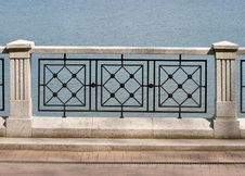 Free Detail Of Granite And Metal Fence Royalty Free Stock Photography - 20293417