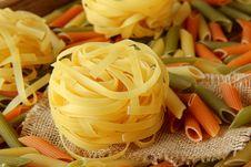 Free Raw Pasta Stock Photography - 20294562