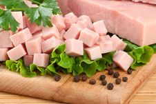 Free Pork  Ham Arranged On Cutting Board With Parsley A Stock Photo - 20294610