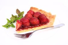 Free Strawberry Tart Royalty Free Stock Photo - 20295125