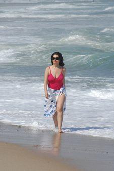 Free Beautiful Woman On The Beach Royalty Free Stock Image - 20295236